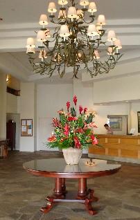 Hotel lobby - the stone is from Arizona.